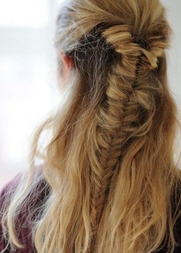 Easy fishtail braid