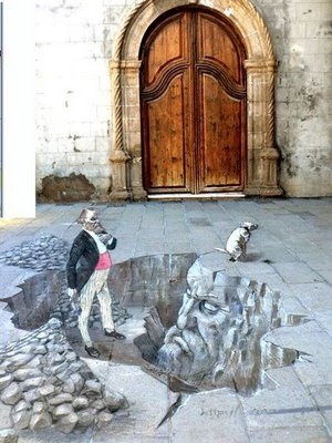 ?3D street art pictures.