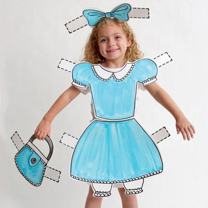 Paper Doll Costume for Halloween, familyfun: Easy DIY! #Halloween #Paper_Doll_Costume #familyfun