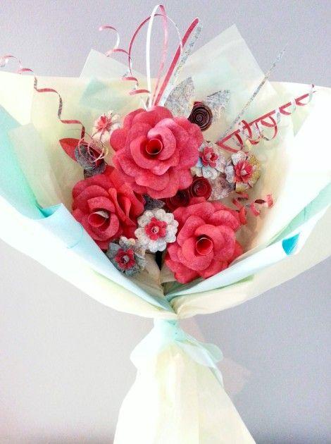 Handmade Paper Flower, Gift Wrap, Handmade Gift Wrap. Handmade Gift, FAV Creations, FAV, Creations,