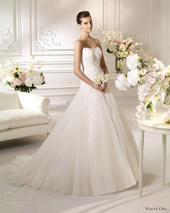 white one wedding dresses 2013 nino strapless gown