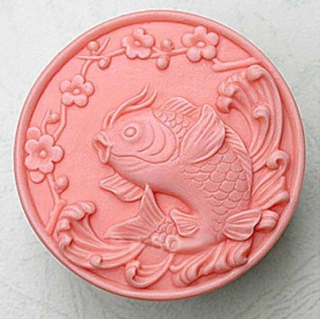 Silicone Handmade Soap Mold Chocolate Mold Round and Fish Pattern