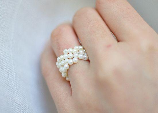 pearl ring tutorial