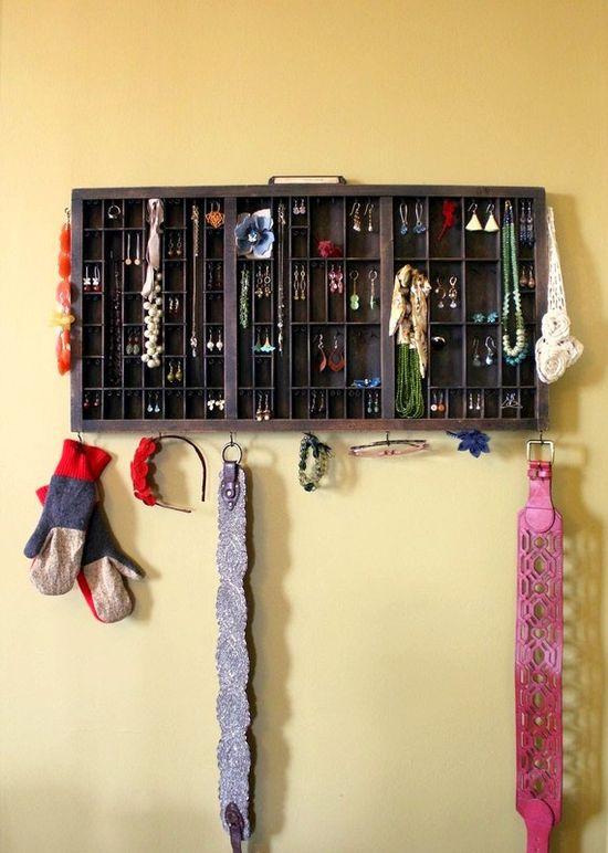 Great way to organize jewelry!