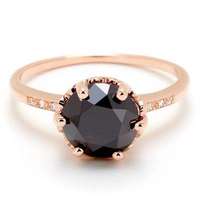 Black diamond/red gold