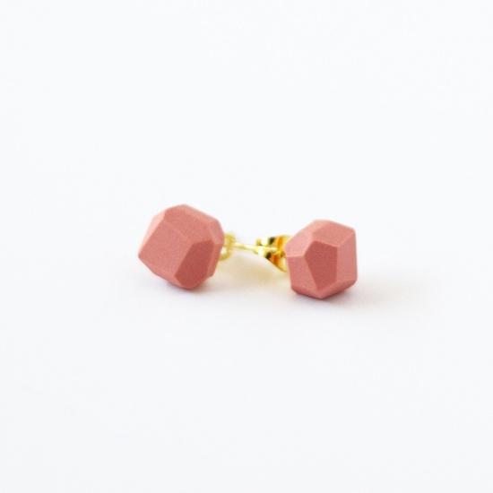 blush pink geo earrings by AMM Jewelry