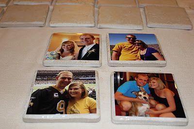 DIY Photo Coasters - step-by-step