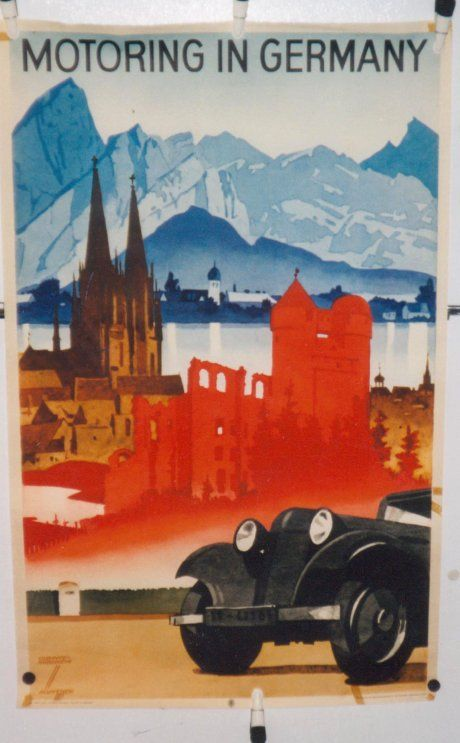Germany Vintage Poster