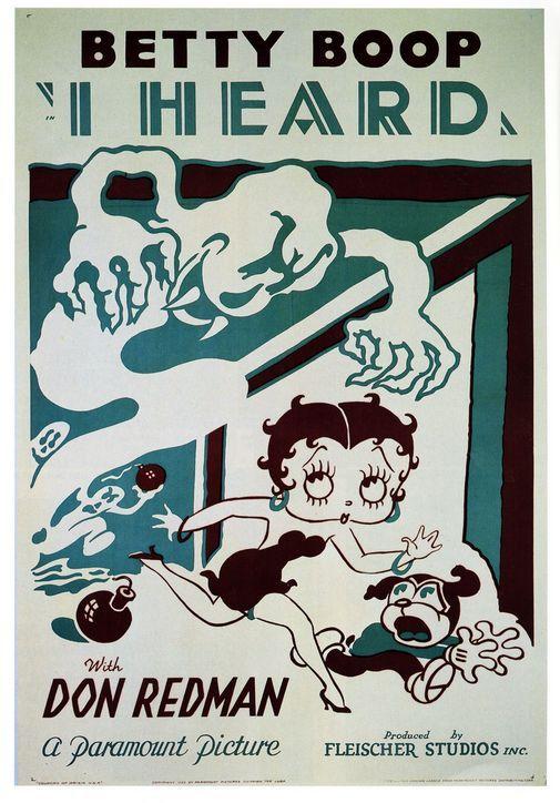 Vintage cartoon poster