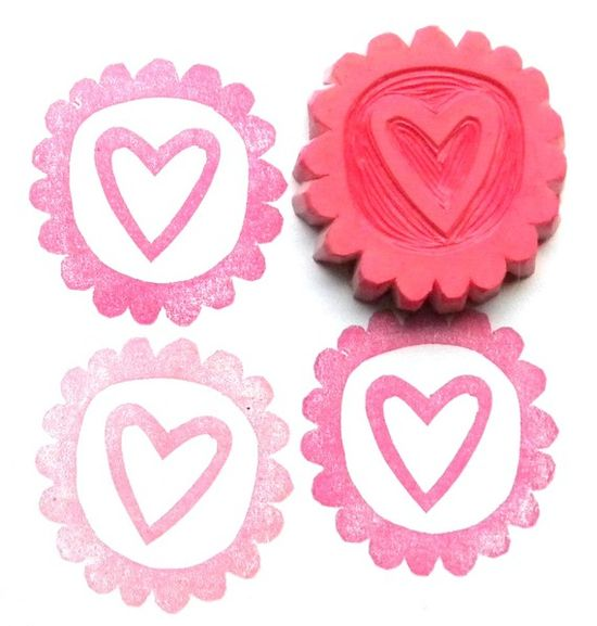 heart stamp.