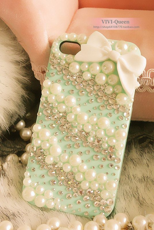 Bow iPhone case Pearl iPhone 4s case Crystal