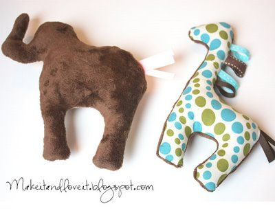 Adorable stuffed animals with tutorial and pattern!