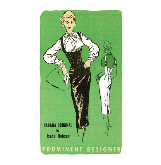 1950s Dress Pattern Isabel Dobson Prominent by CynicalGirl on Etsy, $85.00