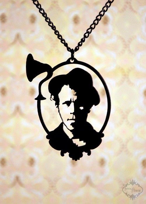 Tom Waits Tribute Portrait Necklace. $32.00
