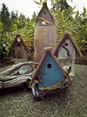 little bird houses