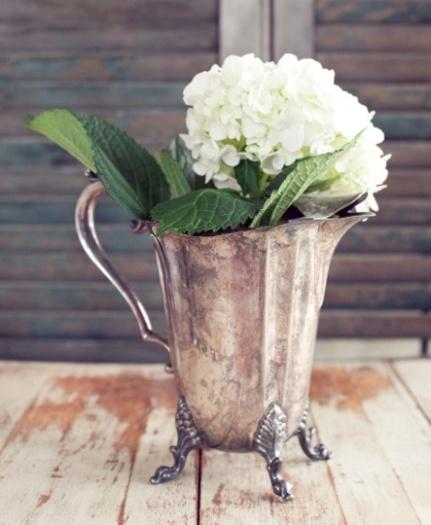 Silver vessel @ Vintage Vignettes