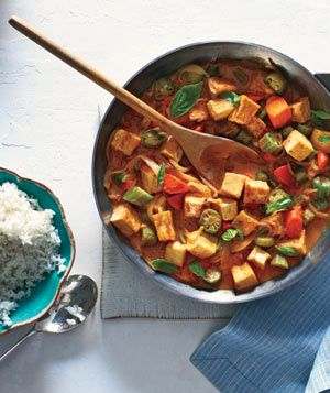 Tofu and Vegetable Curry With Rice #vegetarian