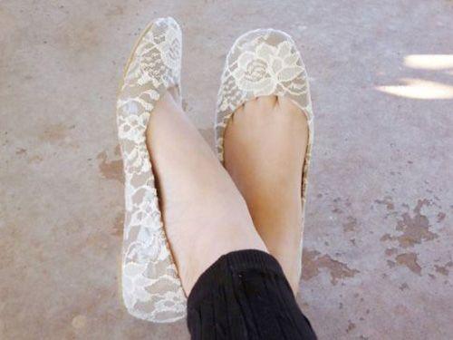 DIY Lace Flats