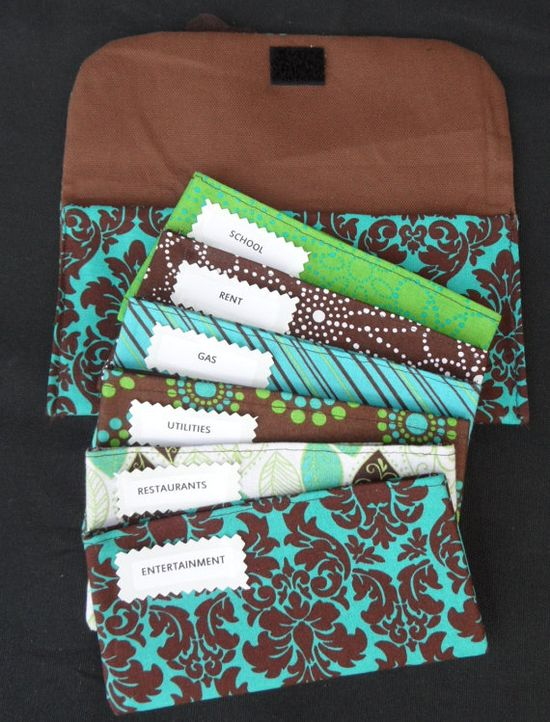@ Jen Stumbo Fabric Cash Envelopes (Dave Ramsey System). Would be great for coupons!