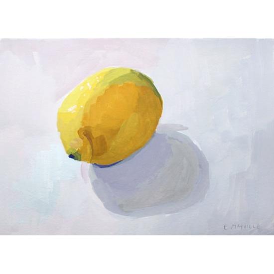 lemon art - original painting - Lemon 1. #elizabethmayville