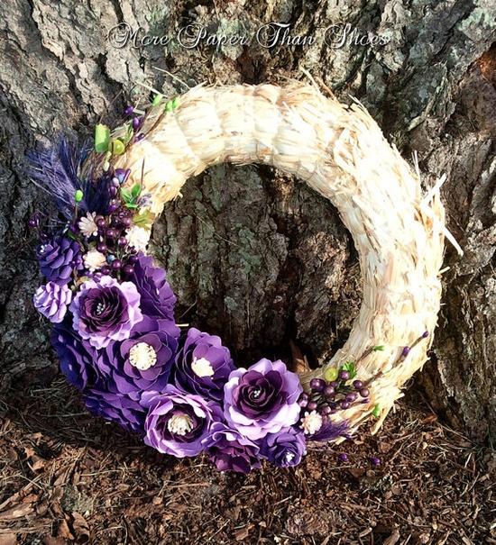 Handmade Paper Flowers - Shades of Purple