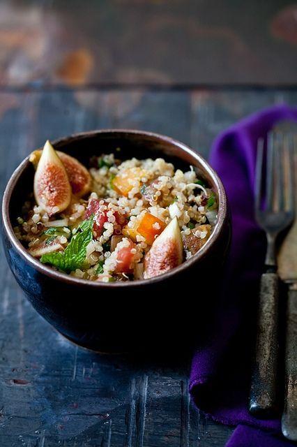 Quinoa and Fig Tabouleh by tartelette, via #company picnic #prepare for picnic