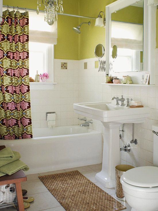 i love this small bathroom idea