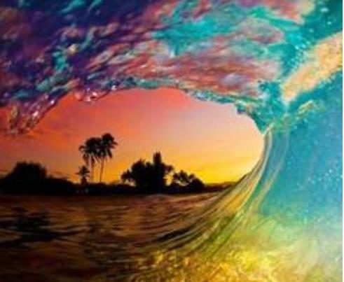 Glistening Colours Frame Beach