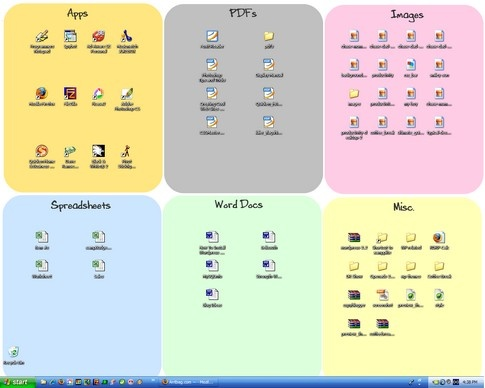 make your desktop wallpaper double as an organizer