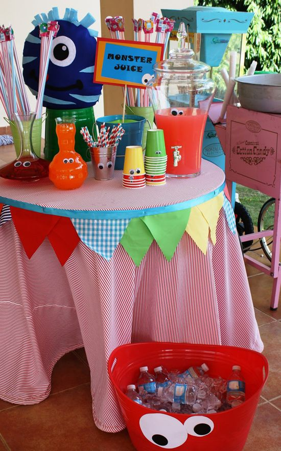 Monster Themed Birthday Party via Karas Party Ideas