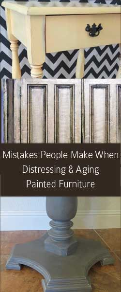 pDistressing and aging painted furniture seems like something you cant really go wrong with.  But, its actually much harder to do well than it looks.  There is definitely an art to it.  Here are some common problems I have run into that can ruin a distressed paint finish. Distressing/Sanding Before /p