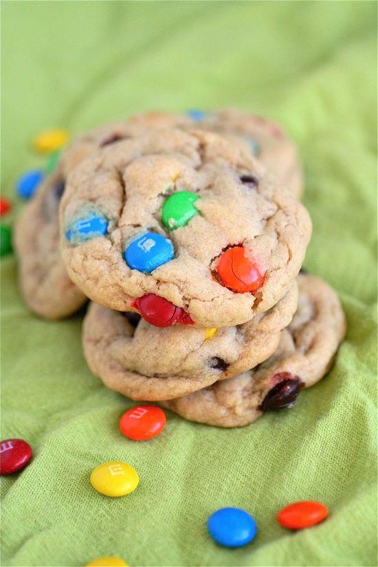 Peanut Butter M's Cookies