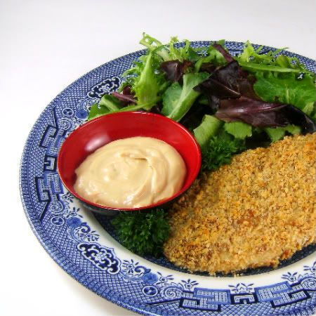 One Perfect Bite: Peanut Crusted Chicken Breasts with Sweet Onion Sauce