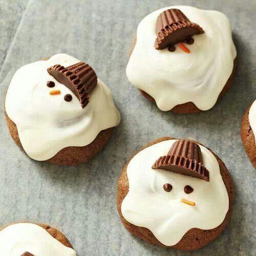 Molten Snowman Cupcakes