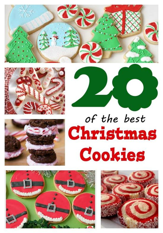 20 of the best #Christmas #cookies on iheartnaptime.net