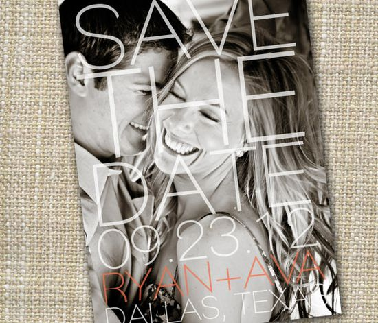love this save the date design