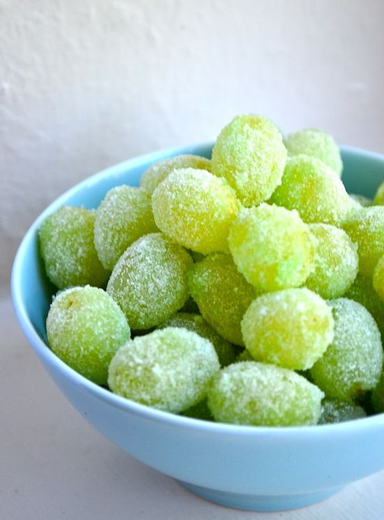 Candied Grapes - Taste just like Sour Patch Kids candy... a must try next movie night. Much healthier than the candy.
