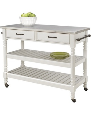 Add some much needed space to your kitchen with this versatile kitchen cart. What's even better- the shelves are adjustable! Buy it here: www.bhg.com/...