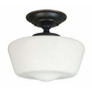 World Imports Lighting 9007-88 Luray 1-Light Semi-Flush Light Fixture, Oil Rubbed Bronze $52
