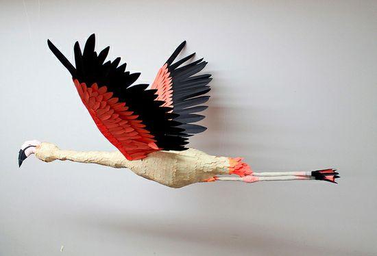 Paper birds and wildlife by Diana Beltran Herrera