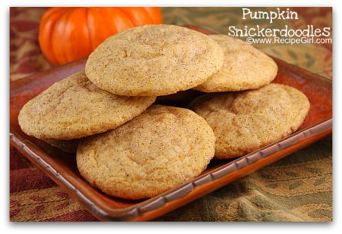 PUMPKIN SNICKERDOODLES - Come on fall!