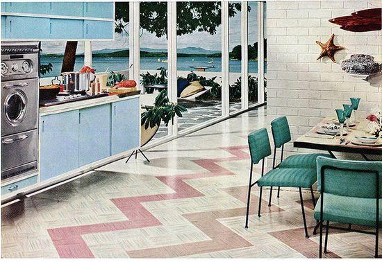 #vintage #kitchen #blue #ocean #sea
