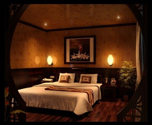 interiors interior design bedroom bed painting lighting