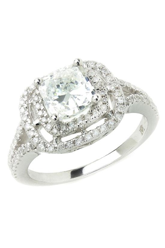 Bijoux Majesty 1.35 Ct Diamond Engagement Ring In 14K White Gold