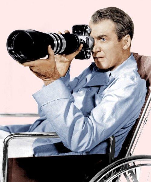 James Stewart in 'Rear Window', 1954.