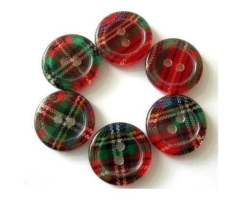 Tartan buttons