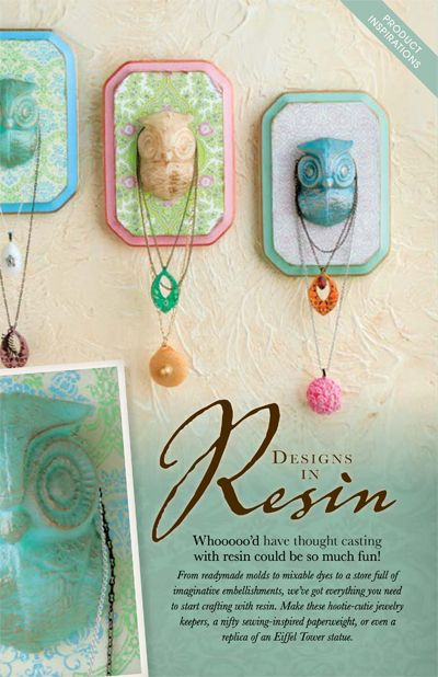 Molded resin owls made into jewelry holders