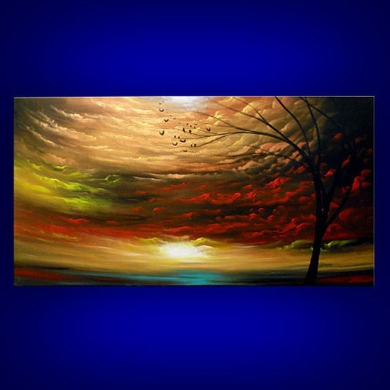 art painting original painting landscape tree painting by mattsart, $350.00
