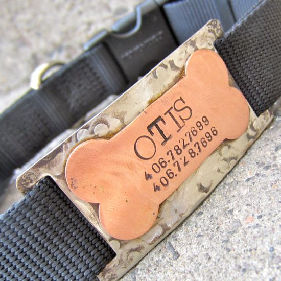 Custom pet ID quiet collar tag  The Bone by makeyourdogsmile, $28.00