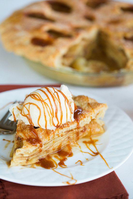 Salted Caramel Apple Pie by @Michelle Flynn (Brown Eyed Baker) :: www.browneyedbake...